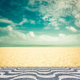 Empty blurred beach with mosaic - vintage Stock Images