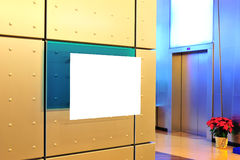 Empty board. In a modern business building stock image