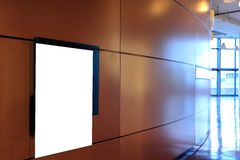 Empty board. In a modern business building royalty free stock photography