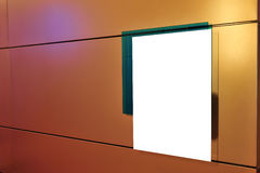 Empty board. In a modern business building royalty free stock photos