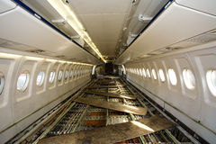 Empty board of the airplane. Under repair Royalty Free Stock Image