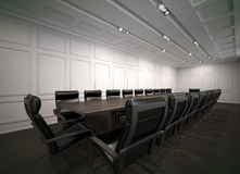 Empty Board Room. Room of negotiation at office Royalty Free Stock Photo