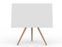 Empty board on white stock images
