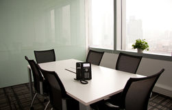 Empty Boardroom Stock Image