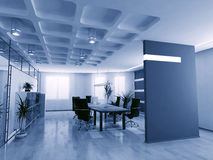 Empty boardroom. Concept image of empty boardroom meeting area (3D Stock Photography