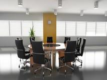 Empty boardroom. Concept image of empty boardroom meeting area (3D Royalty Free Stock Photos