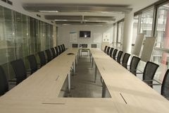 Empty Boardroom stock images