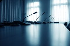 Empty boardroom meeting area Royalty Free Stock Photo