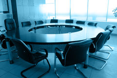 Empty boardroom meeting area stock photography