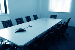 Empty boardroom meeting area Stock Image