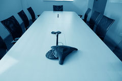Empty boardroom meeting area Stock Images