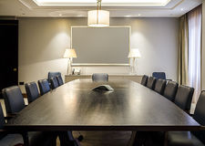 Empty Boardroom Stock Photography