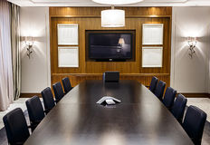 Empty Boardroom Stock Photo
