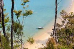 Empty boat at the beach Royalty Free Stock Photo
