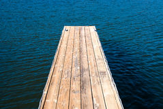 Empty boat dock Stock Photography