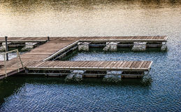 Empty boat dock on river Stock Image
