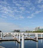 Empty boat docks Royalty Free Stock Photos