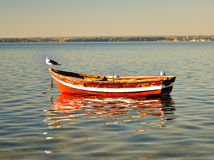 Empty boat. Royalty Free Stock Image
