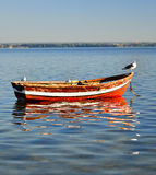 Empty boat. Royalty Free Stock Images