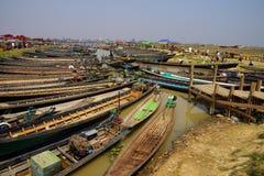 Empty boats await tourists Royalty Free Stock Photo