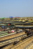 Empty boats await tourists Stock Images