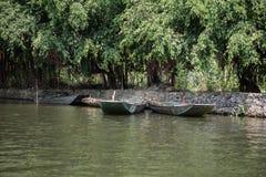 Empty Boats on Lake Royalty Free Stock Photo