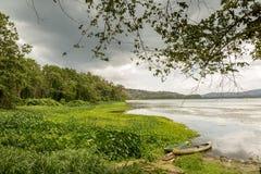 Empty Boats at River's Edge - Gamboa, Panama Royalty Free Stock Photos