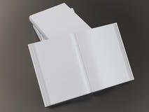 Empty book mockup template Stock Photos