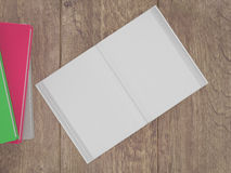 Empty book mockup template. High resolution. Stock Photo