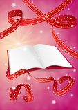 Empty book and ribbons Royalty Free Stock Image
