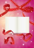 Empty book and ribbons Royalty Free Stock Photo