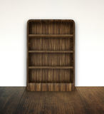 Empty book shelf. Brown wood empty book shelf in the room Royalty Free Stock Photo