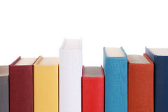 Empty book spines Royalty Free Stock Image