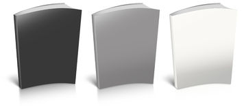 Empty book template Stock Photography