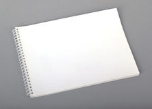 Empty booklet. Isolated on gray Stock Photo
