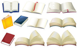 Empty books. Illustration of the empty books on a white background Royalty Free Stock Images