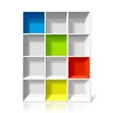 Empty bookshelf Stock Photos