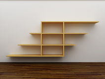 Empty bookshelf. On the wall royalty free illustration