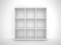 Empty bookshelf Stock Photos