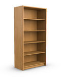 Empty bookshelf Stock Photo