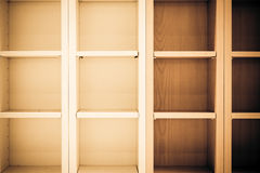 Empty bookshelf Stock Image