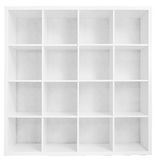 Empty bookshelf or store rack isolated on white Royalty Free Stock Photography