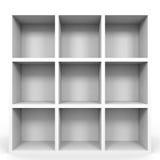 Empty bookshelf on white. Royalty Free Stock Image