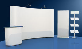 Empty booth space Royalty Free Stock Images
