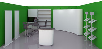 Empty booth space Stock Images
