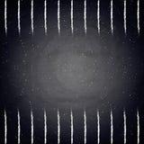 Empty border on blackboard chalkboard Royalty Free Stock Image