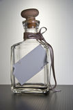Empty bottle. Empty glass bottle with copyspace Stock Images