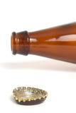 Empty bottle of beer Royalty Free Stock Images