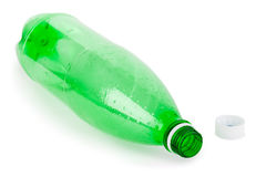 Empty bottle and cap Stock Images