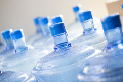Empty bottle of water waiting for recycling Royalty Free Stock Photo